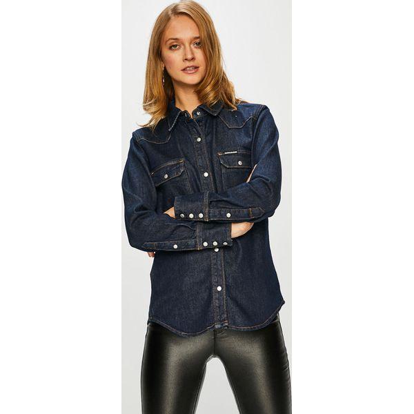 25ee96396 Calvin Klein Jeans - Koszula - Czarne koszule damskie Calvin Klein ...