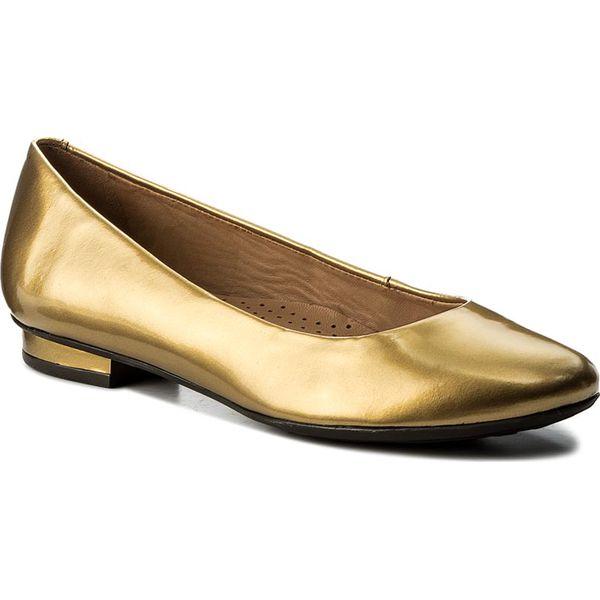 269bc246 Baleriny KAZAR - Nancy 30310-L0-13 Złoty - Balerinki damskie marki ...