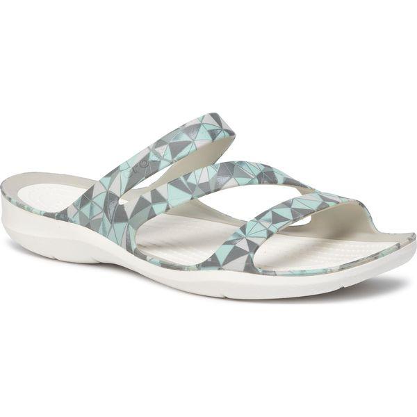 Klapki damskie Crocs W Swiftwater Seasonal Sandal zielone