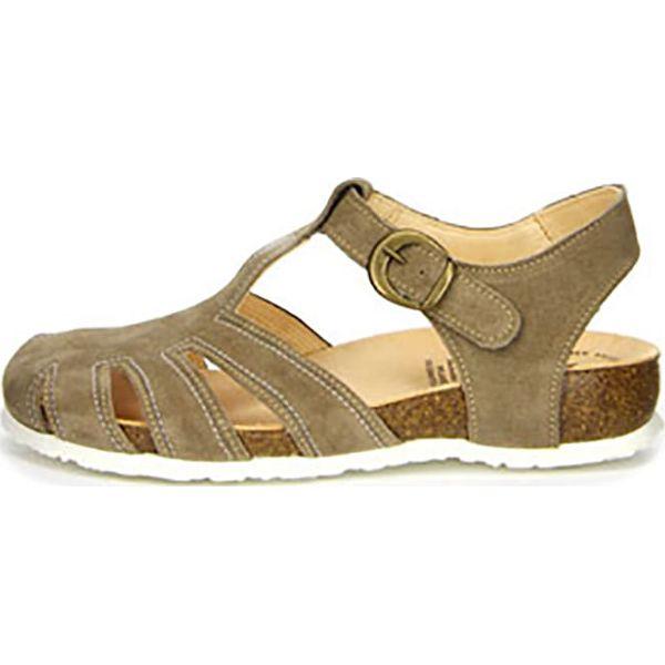 d53f57618060b Skórzane sandały w kolorze jasnobrązowym - Brązowe sandały damskie ...