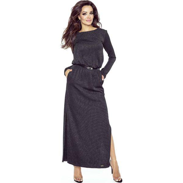 99cc28f7 Czarna Sukienka Maxi z Koronką na Plecach