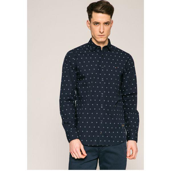 4c1a86429eab6 Tommy Hilfiger - Koszula - Szare koszule męskie marki Tommy Hilfiger ...