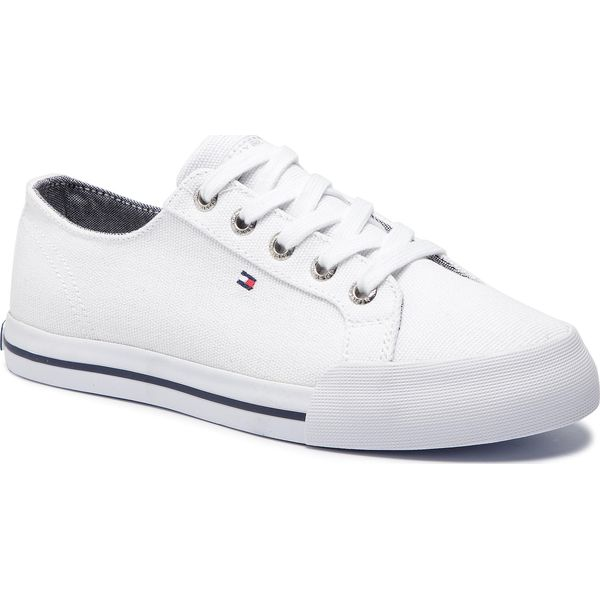 dca30e1d11fb6 Tenisówki TOMMY HILFIGER - Essential Sneaker FW0FW03853 White 100 ...