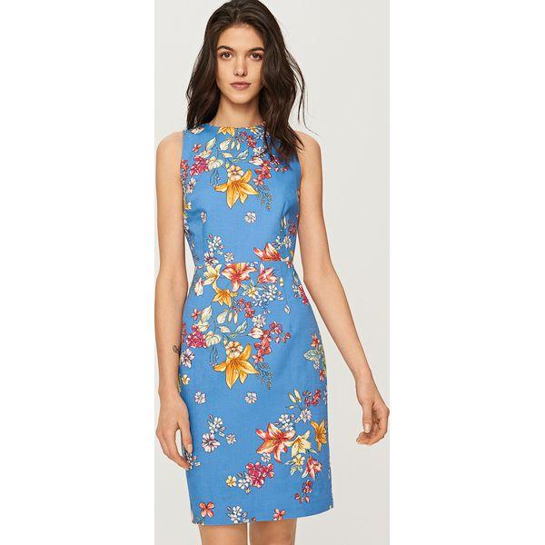 d90283c398 Sukienka w kwiaty - Niebieski - Niebieskie sukienki damskie marki ...