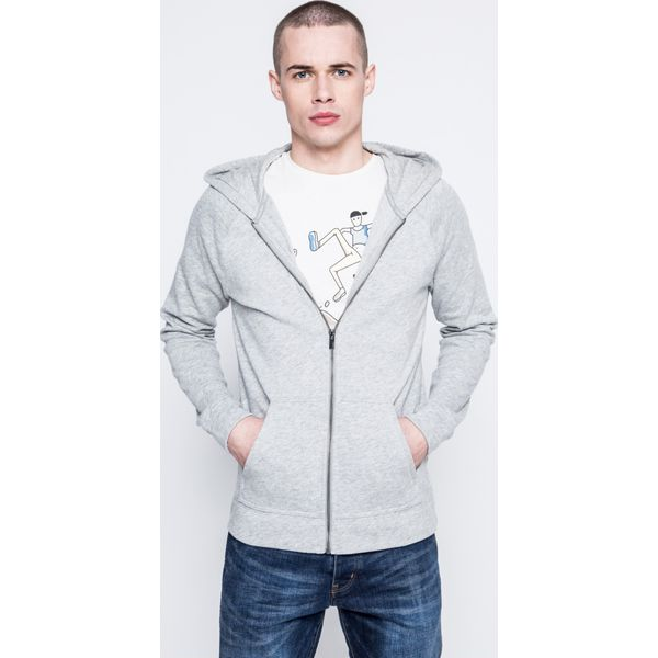 0e90b52369a743 Calvin Klein Underwear - Bluza piżamowa - Szare piżamy męskie Calvin ...