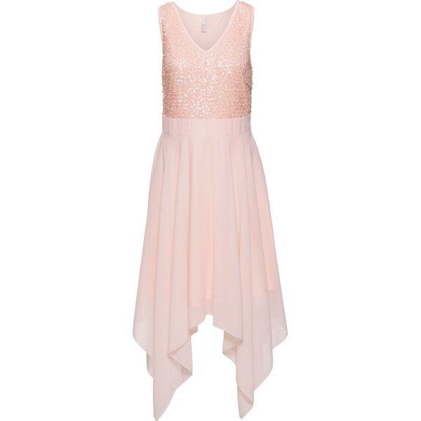 c29e997fc6 Sukienka wieczorowa z cekinami bonprix bladoróżowy - Sukienki ...