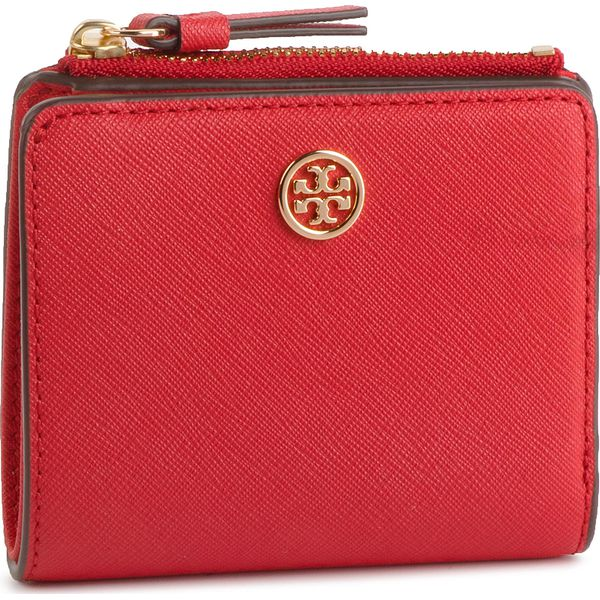 2912e3ee2f9a0 Mały Portfel Damski TORY BURCH - Robbinson Mini Wallet 54449 Brilliant Red  612 - Czerwone portfele damskie marki Tory Burch