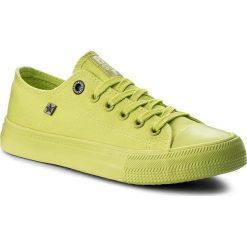Zielone buty BIG STAR, na sznurówki Kolekcja wiosna 2020